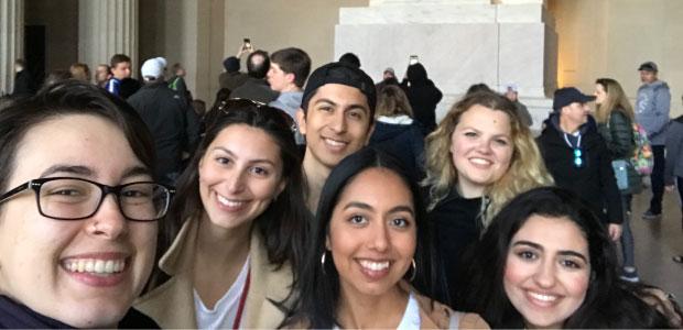 Selfie at the Lincoln Memorial