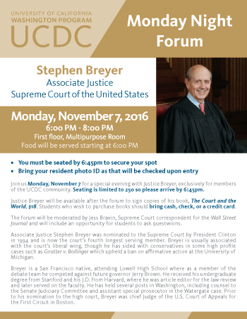 Monday Night Forum: Justice Stephen Breyer
