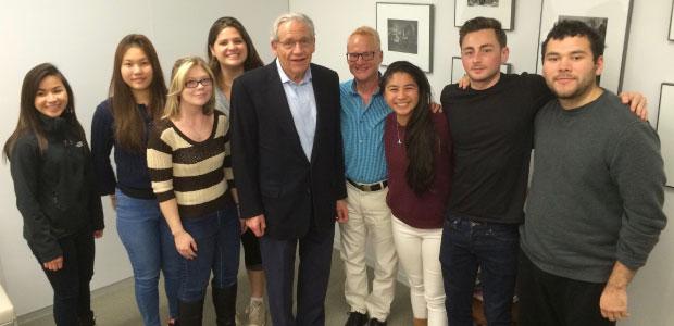 Professor Stu Krieger's D.C. on Film class with journalist, Bob Woodward.