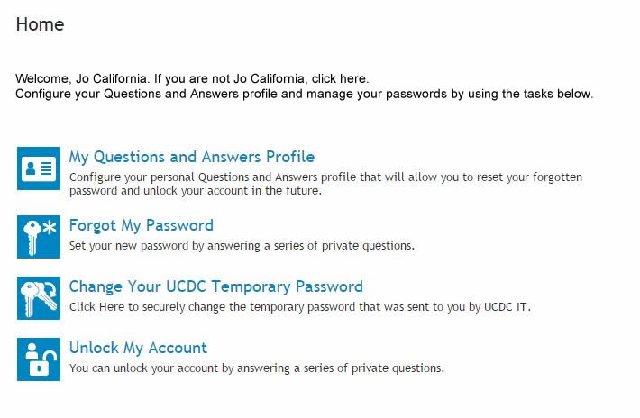 About My UCDC Network Account | UCDC